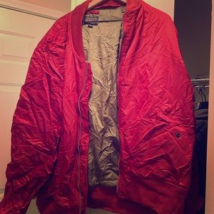 Men's Alpha Industries Red Bomber Jacket